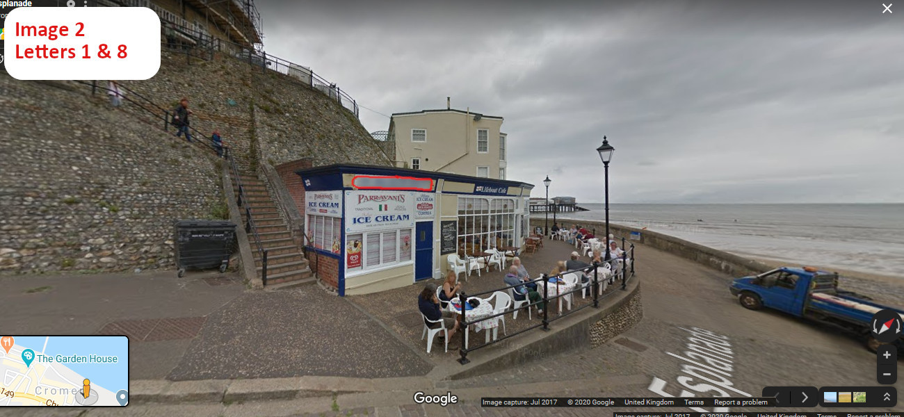 A virtual puzzle hunt through the town of cromer in norfolk.