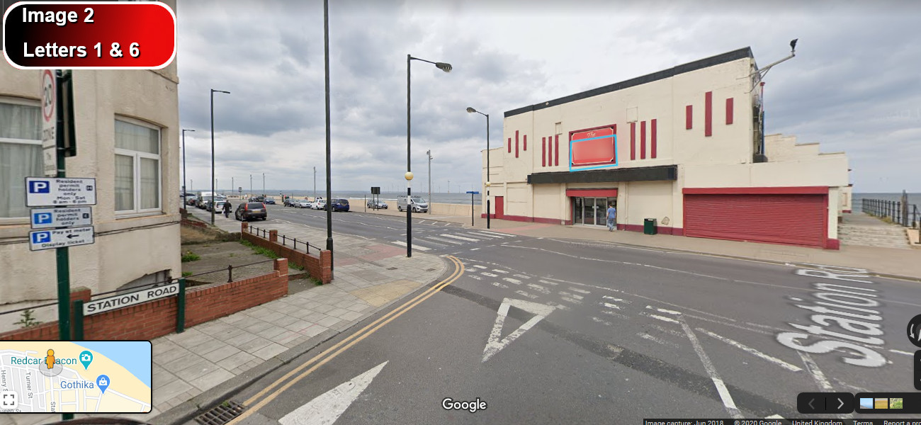 A virtual puzzle hunt through redcar in yorkshire.