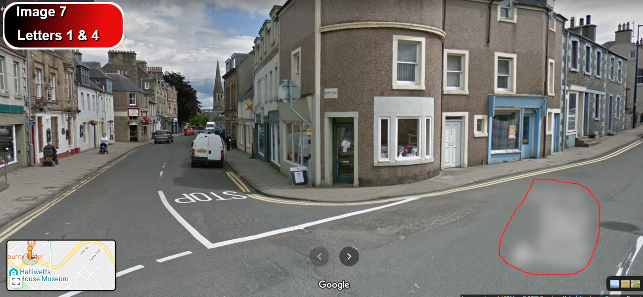 A virtual puzzle hunt through selkirk in scottish borders.